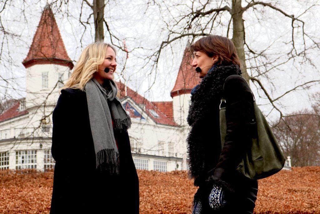 Ida Auken med filosof Anne Marie Pahuus