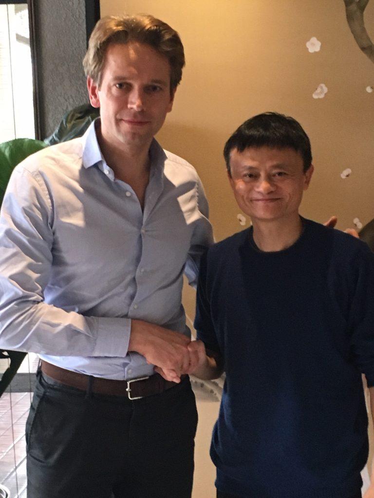 Tue Mantoni og Jack Ma