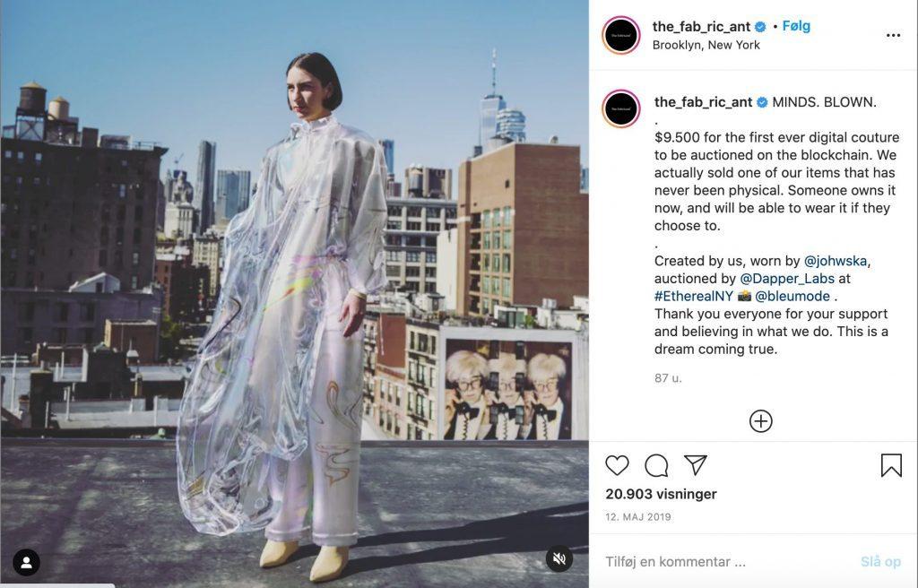 Kjolen, som The Fabricant solgte for 62.000 kr.
